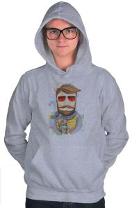 Худи Бородач в очках   Bearded man with glasses