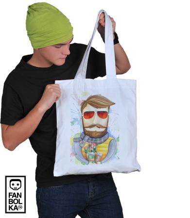 Сумка Бородач в очках   Bearded man with glasses