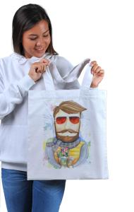 Сумка Бородач в очках | Bearded man with glasses