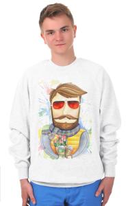 Свитшот Бородач в очках   Bearded man with glasses