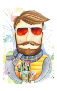 Постер Бородач в очках | Bearded man with glasses