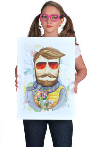 Постер Бородач в очках   Bearded man with glasses