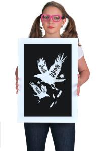 Постер ГОТ Тёмные крылья тёмные слова |GoT Dark wings Dark word