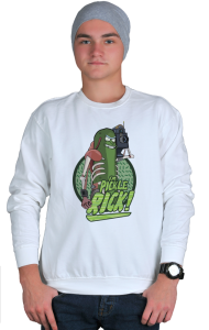 Свитшот Огурчик Рик | Pickle Rick