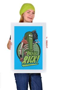 Постер Огурчик Рик   Pickle Rick
