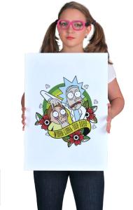 Постер Рик и Морти Олд Скул| Rick and Morty Old School