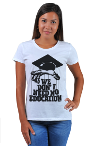Футболка Нам не нужно образование | We don't need no education