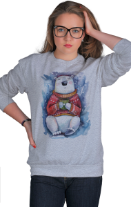 Свитшот Белый Мишка   White Bear