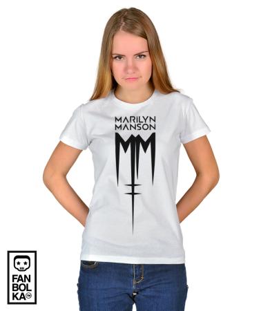 Футболка Мэрилин Мэнсон Лого | Marilyn Manson Logo