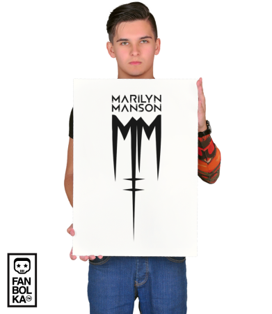 Постер Мэрилин Мэнсон Лого | Marilyn Manson Logo