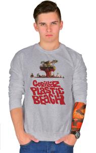 Свитшот Гориллаз Пластик Бич | Gorillas Plastic Beach