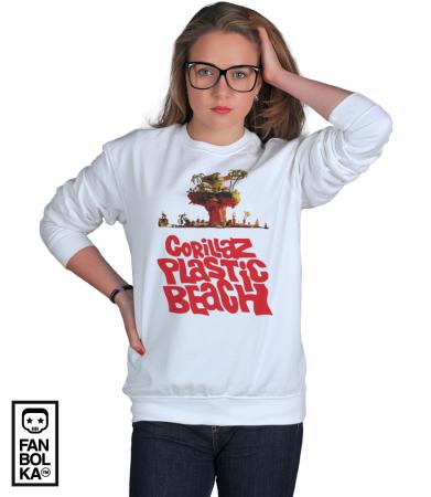 Свитшот Гориллаз Пластик Бич   Gorillas Plastic Beach