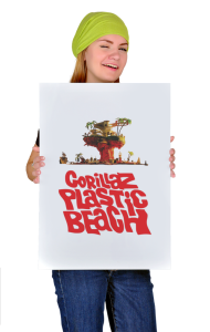 Постер Гориллаз Пластик Бич | Gorillas Plastic Beach