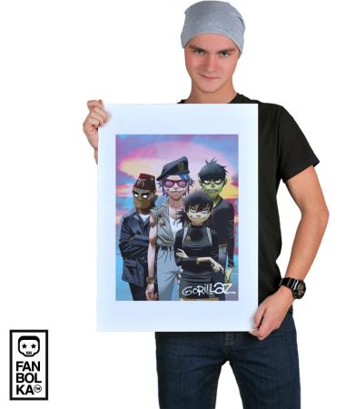 Постер Гориллаз Хьюманз | Gorillaz Humanz