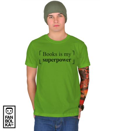 Футболка Книги моя Суперсила| Books is my Superpower