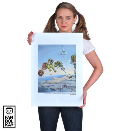 Постер Дали. Полет Пчелы Вокруг Граната| Dali. Flight of a Bee Around a Pomegranate