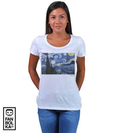 Футболка Винсент Ван Гог. Звёздная Ночь | Vincent Van Gogh. The Starry Night