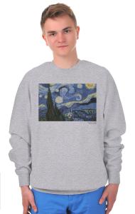 Свитшот Винсент Ван Гог. Звёздная Ночь   Vincent Van Gogh. The Starry Night