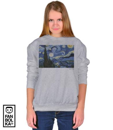 Свитшот Винсент Ван Гог. Звёздная Ночь | Vincent Van Gogh. The Starry Night