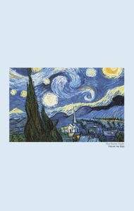 Постер Винсент Ван Гог. Звёздная Ночь | Vincent Van Gogh. The Starry Night