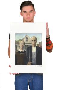 Постер Грант Вуд. Американская готика | Grant Wood. American Gothic